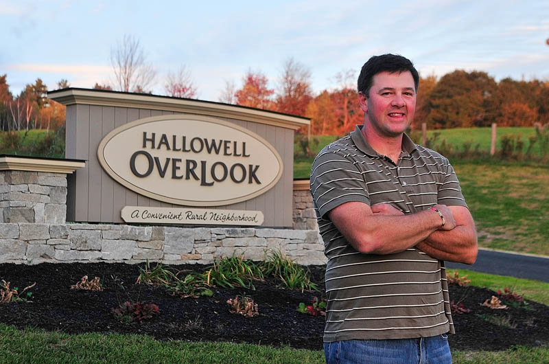 Developer Matt Morrill at Hallowell Overlook on Friday in Hallowell.