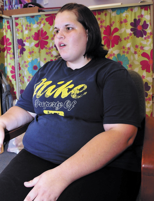 Danielle Watkins, 18, a mother of a young daughter, says on Wednesday she has worries since the federal government shut-down and has temporarily stopped WIC, Women, Infants and Children, the program from which she receives benefits.