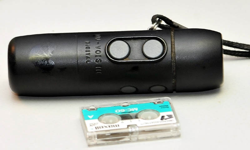 An electro larnyx battery-powered voicebox device.