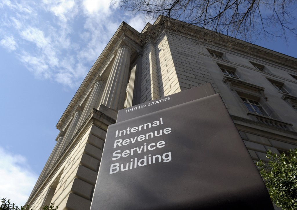 Photo shows the Internal Revenue Service building in Washington. The IRS issued $4 billion in fraudulent tax refunds last year to people using stolen identities, with some of the money going to addresses in Bulgaria, Lithuania and Ireland, according to a Treasury report released Thursday. The IRS sent a total of 655 tax refunds to a single address in Lithuania, and 343 refunds went to a lone address in Shanghai.