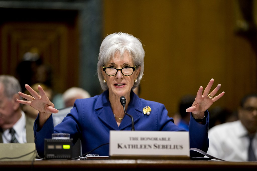 In this Nov. 6, 2013, file photo, Health and Human Services Secretary Kathleen Sebelius testifies on Capitol Hill in Washington on the difficulties plaguing the implementation of the Affordable Care Act. Putting a statistic on disappointment, the Obama administration revealed Wednesday, Nov. 13, that fewer than 27,000 people signed up for private health insurance last month in the 36 states relying on a problem-filled federal website.
