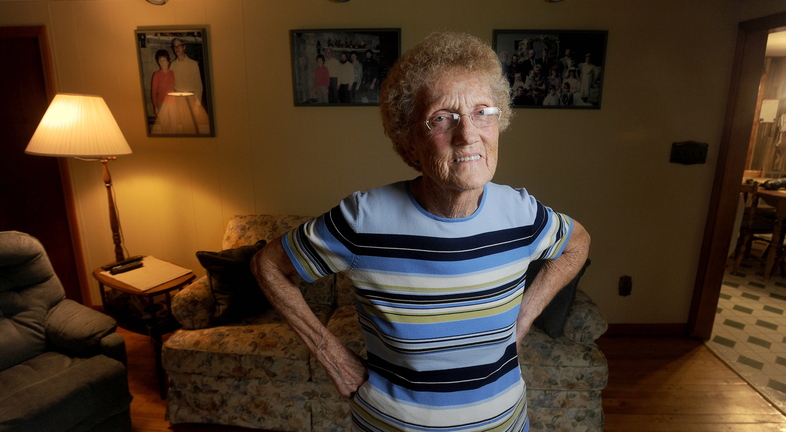 fIGHTING oSTEOPOROSIS: Marjorie Weeman, 78, of St. Albans, is one of 700,000 Americans who suffered a spinal fracture as a result of osteoporosis. She underwent an innovative spinal surgery in an effort to correct a painful back injury she suffered earlier this year.