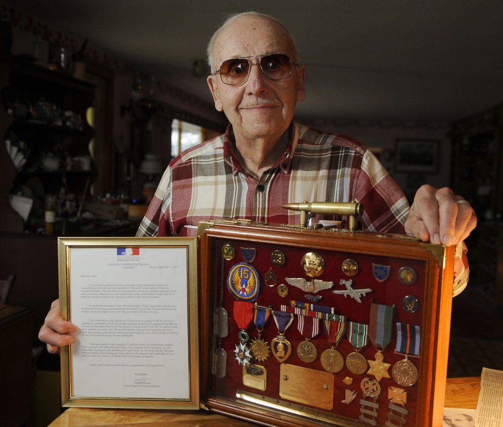 THE KNIGHT: Don Tuttle of Augusta was recently appointed Chevalier, or knight, in the French Legion of Honor, for his service as a tailgunner on a B-24 bomber over France, aiding in its liberation during WWII.