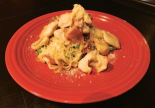 Chicken and prisciutto capellini