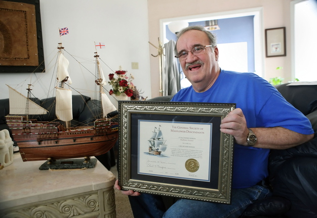 "Rick Denham recently received a certificate notifying him that as of Jan. 20, 2011 he is officially member 82,909 of ""The General Society of Mayflower Descendants. Cindeka Nealy/Reporter-Telegram"