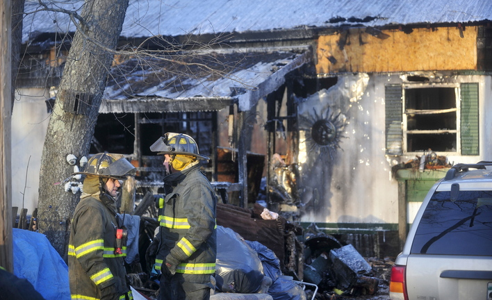 Mobile home lost: A Preble Avenue home in Anson was destroyed Saturday afternoon in a fire that started in the kitchen. Officials say it appears to be accidental.
