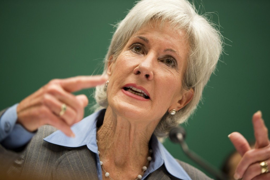 Health and Human Services Secretary Kathleen Sebelius testifies on Oct. 30, 2013, before a House Energy and Commerce Committee hearing on the difficulties plaguing the implementation of the Affordable Care Act.