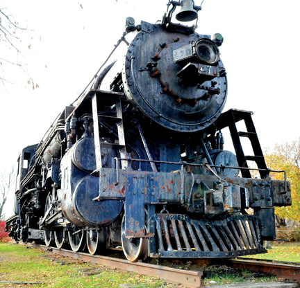 Staff photo by David Leaming ALL ABOARD: The Waterville City Council is considering selling the Old 470 steam locomotive that is a city landmark on College Avenue.