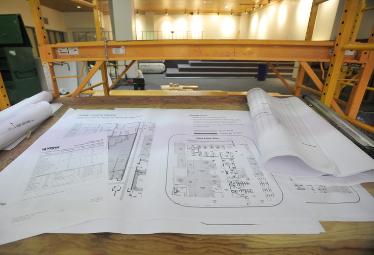 WORK SPACE: The former cafe at the Thayer Center for Health in Waterville will be transformed in to a patient waiting area as part of a $16 million renovation project.