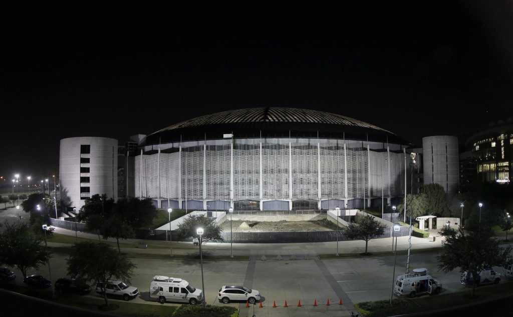 The Houston Astrodome is illuminated, in Houston. Voters rejected what county officials had touted as the only way to save the prized dome from demolition. Still, this might not be the dome's last stand.