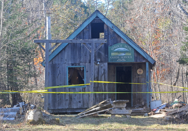 Damaged camp: Fire crews from several area towns fought a structure fire on Stickney Hill Road in Athens Sunday.
