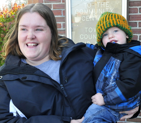 Jessica Ward and her son Joshua.
