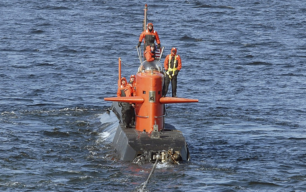 In this Feb. 2007 photo, the research submarine NR-1 is towed away from The U.S. Naval Submarine Base in New London, Conn. The nuclear-powered sub was taken out of service in 2008 and disassembled, its reactor disposed of.