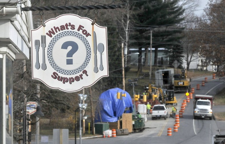 Giving Thanks: The annual Thanksgiving dinner at What's For Supper? restaurant in Norridgewock is getting support from Summit Natural Gas of Maine, which is building a pipeline in the area.