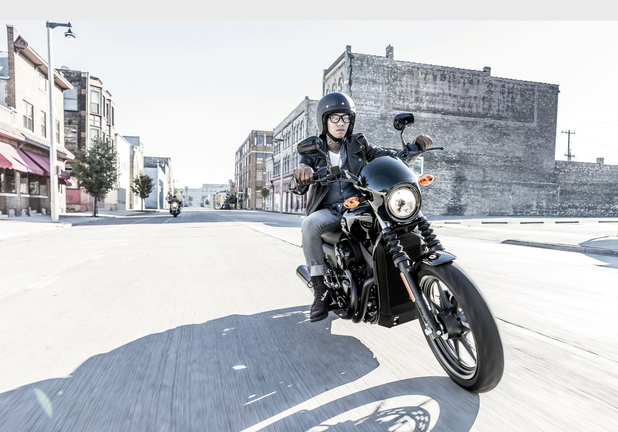 The Harley-Davidson Street 750, available in select markets in 2014, will feature a liquid-cooled powertrain.