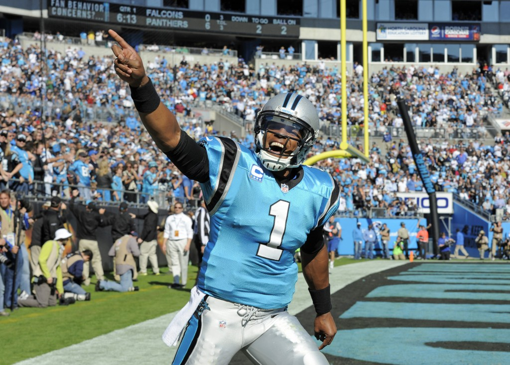 THE NEXT CHALLENGE: Quarterback Cam Newton and the Carolina Panthers are preparing for a meeting with the New England Patriots on Monday night in Carolina.