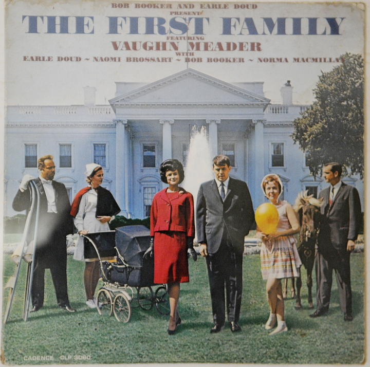 "KENNEDY IMPERSONATOR: Abbott Vaughn Meader's most famous comedy album, ""The First Family"" in 1962."