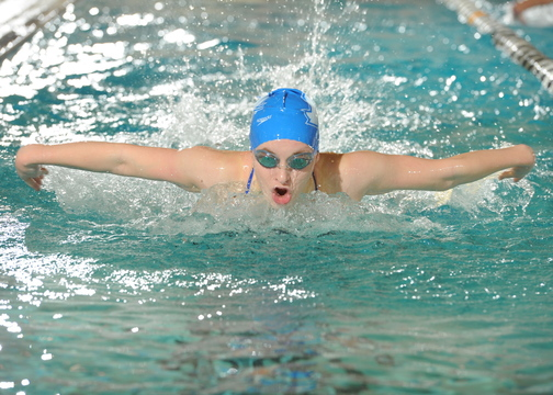 GETTING IT DONE: Cony High School graduate Victoria Weber has increased her work load in practice at Assumption College and the result have shown in meets this season.