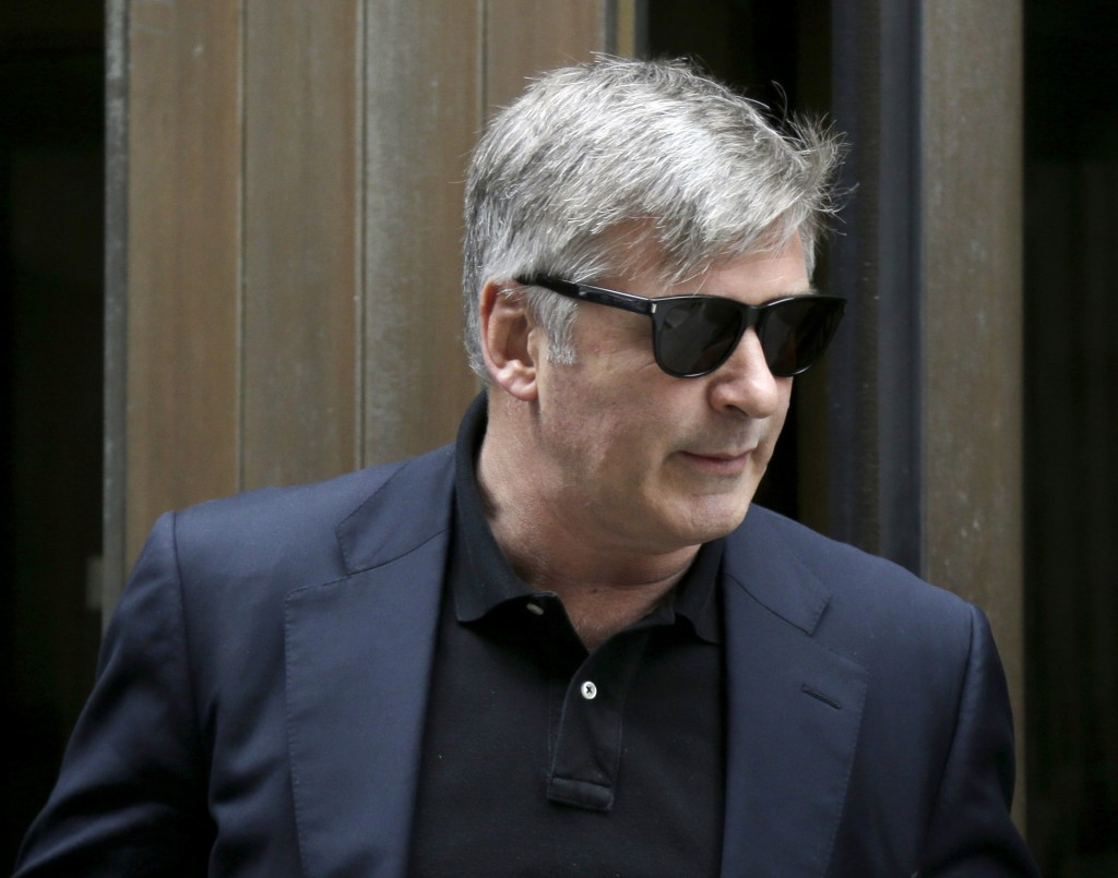Actor Alec Baldwin leaves criminal court in New York on Tuesday.