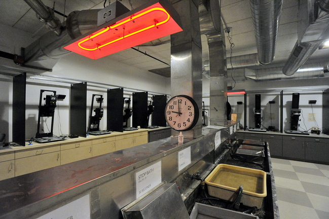 The new Edwards Center for Art and Dance includes a large, fully equipped photographic darkroom.