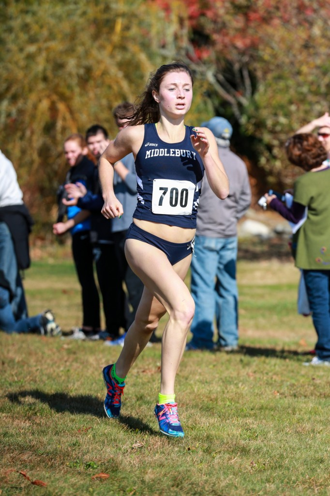 GOOD START: Lawrence High School graduate Erzsebet Nagy has enjoyed a successful freshman season for the Middlebury cross country team. Nagy was named the New England Small College Athletic Conference Rookie of the Year, recently.
