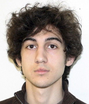 This file photo by the Federal Bureau of Investigation shows Dzhokhar Tsarnaev, the surviving suspect in the Boston Marathon bombings who is accused in two bombings that killed three people and injured more than 260 others near the finish line of the April 15 marathon.