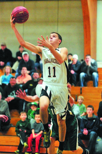 READY TO GO: Taylor Wilbur and the Maranacook Community High School boys basketball team kick off the season tonight at Gardiner.