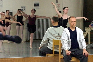 "REHEARSAL: Andrei Bossov during a rehearsal for ""The Nutcracker"" in 2004."