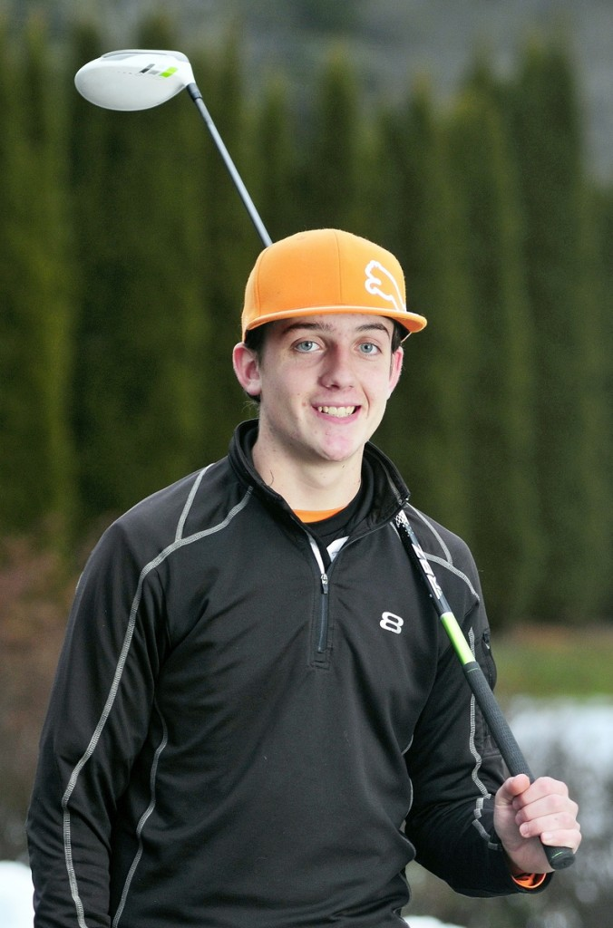 Staff photo by Joe Phelan 2013 Kennebec Journal Golfer of the Year Luke Ruffing poses for a photo on Friday December 6, 2013 at Augusta Country Club in Manchester.
