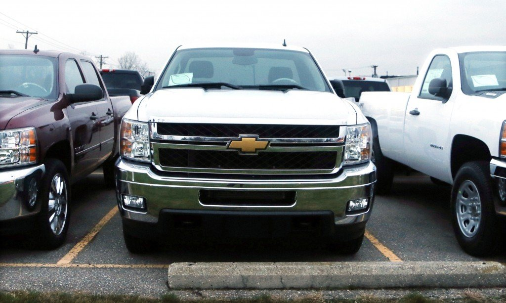 Chevrolet Silverado pickup trucks are seen on a dealer's lot in Troy, Mich., on Monday. GM expects sales of pickup trucks to increase now that the government has shed its stock.
