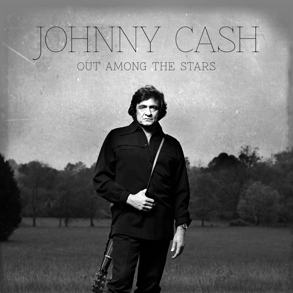 "This photo provided by Columbia/Legacy shows the Johnny Cash album cover for ""Out Among the Stars,"" releasing March 25, 2014. The new album is comprised of 12 studio recordings by Cash that were recently discovered."