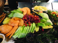 Fresh fruit is available at the buffet.