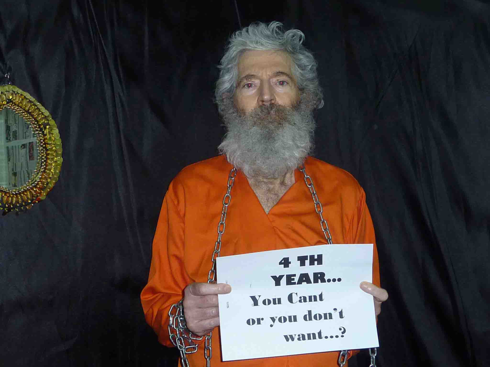 This undated handout photo provided by the family of Robert Levinson after they received it in April 2011, shows retired-FBI agent Robert Levinson.