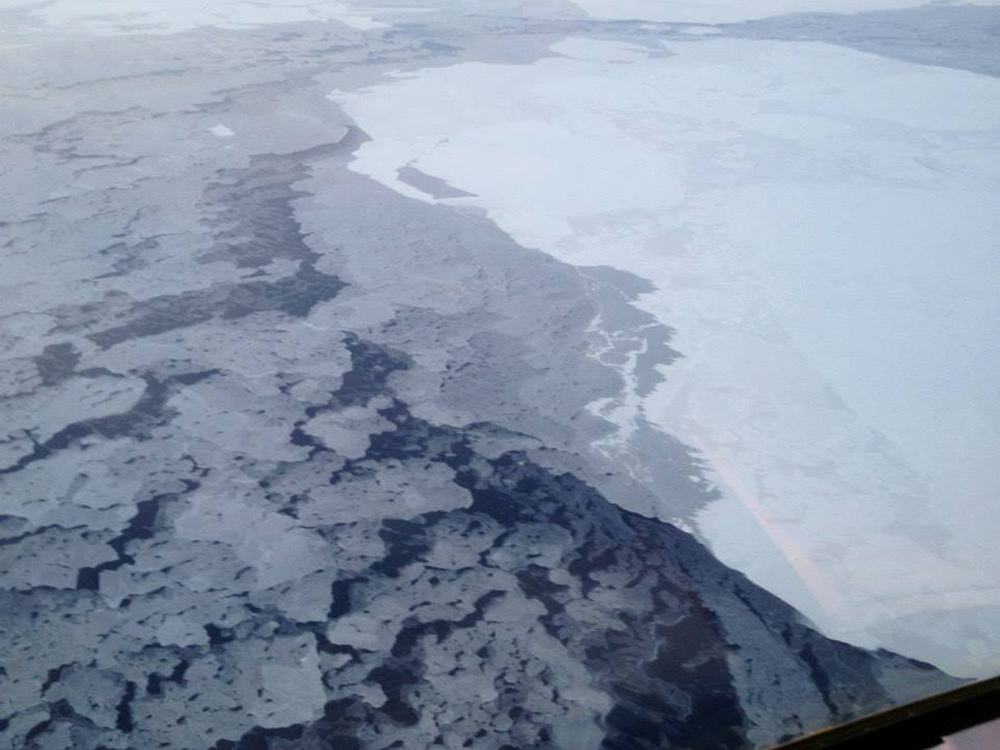 Arctic sea ice earlier in 2013. Scientists spent three weeks in the region analyzing conditions, as recent reductions in sea ice extent in the autumn months impacts weather patterns regionally and perhaps farther afield. AP Photo