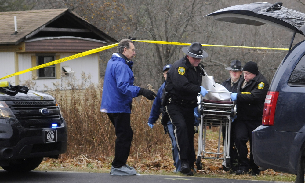 SUSPICIOUS DEATH: Kennebec County deputy sheriffs and Maine state troopers investigated a report of a suspicious death Nov. 22 at an abandoned mobile home on U.S. Route 201 in Vassalboro, near the Maine Criminal Justice Academy. The body belonged to Thomas Namer, 69, of Waterville, and Courtney Shea, 30, of Vassalboro, has been charged with murder in the death.