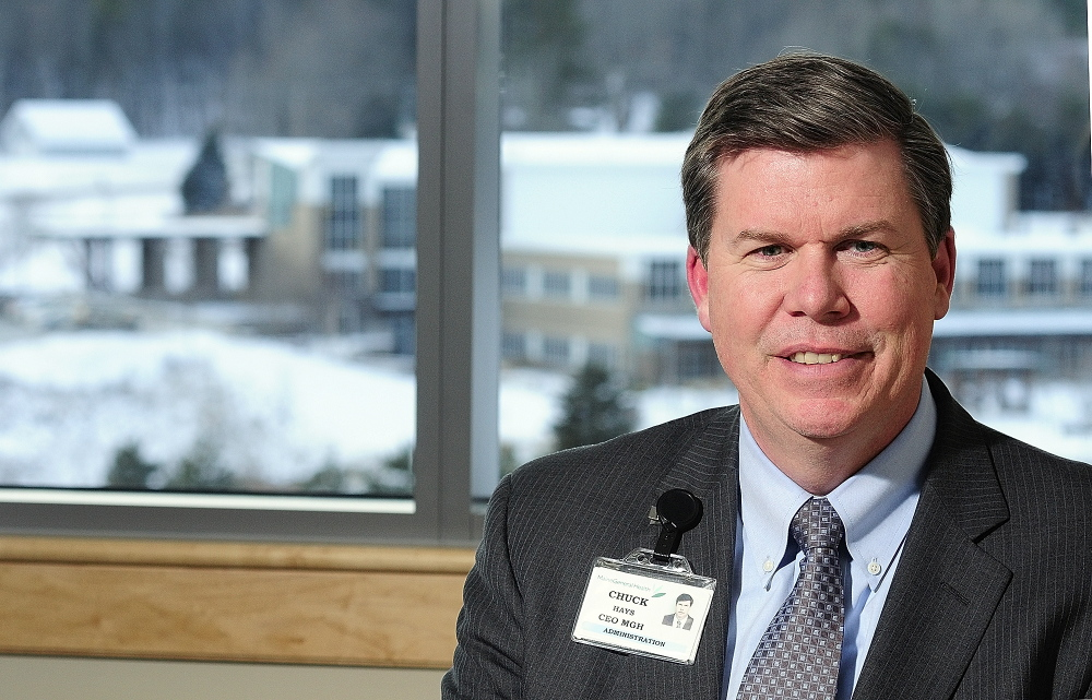 BUsiness of the year: Chuck Hays the chief executive officer of MaineGeneral Health in his office at the newly opened Alfond Center for Health in Augusta.