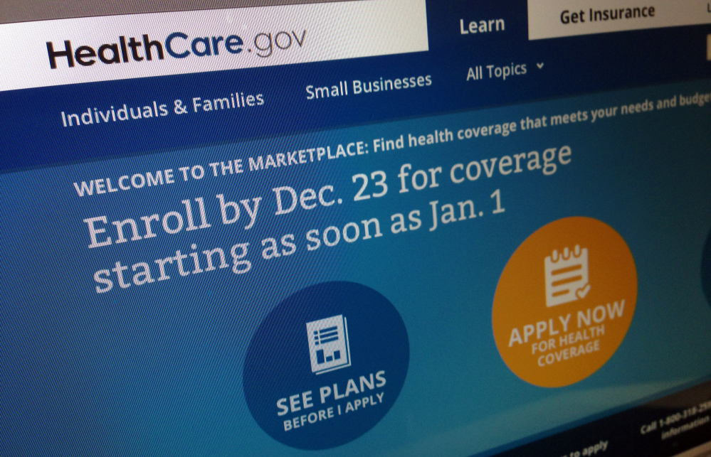 A file image shows part of the HealthCare.gov website in Washington. A December surge propelled health care sign-ups through the government's rehabilitated website past the 1 million mark, the Obama administration said Sunday.