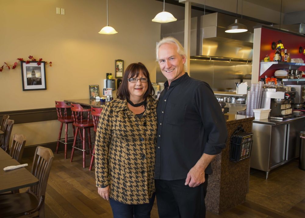 CHAMBER WINNERS: Kim and Mike Meservey, owners of Downtown Diner, are the winners of a President's Award from the Kennebec Valley Chamber of Commerce.