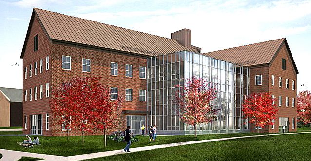 The new David Science Center at Colby College.