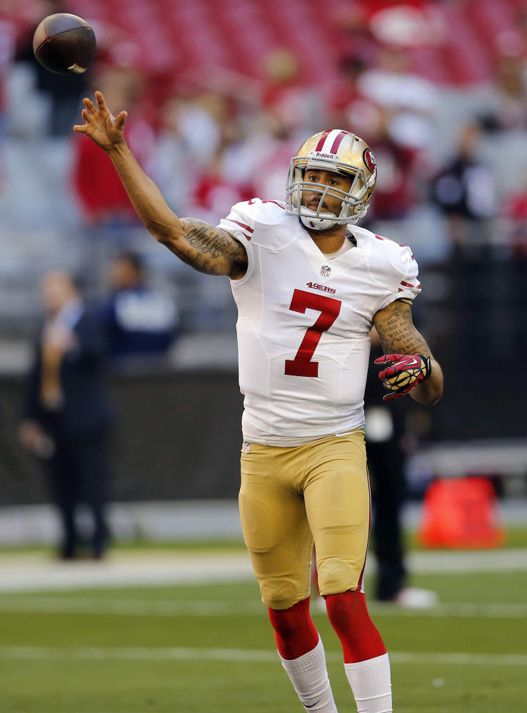 ON THE ROAD: Colin Kaepernick and the San Francisco 49ers will open the playoffs on the road against the Green Bay Packers, despite finishing with a better record than Green Bay. San Francisco went 12-4 but will play at Green Bay, which went 8-7-1, but won their division to earn home field.