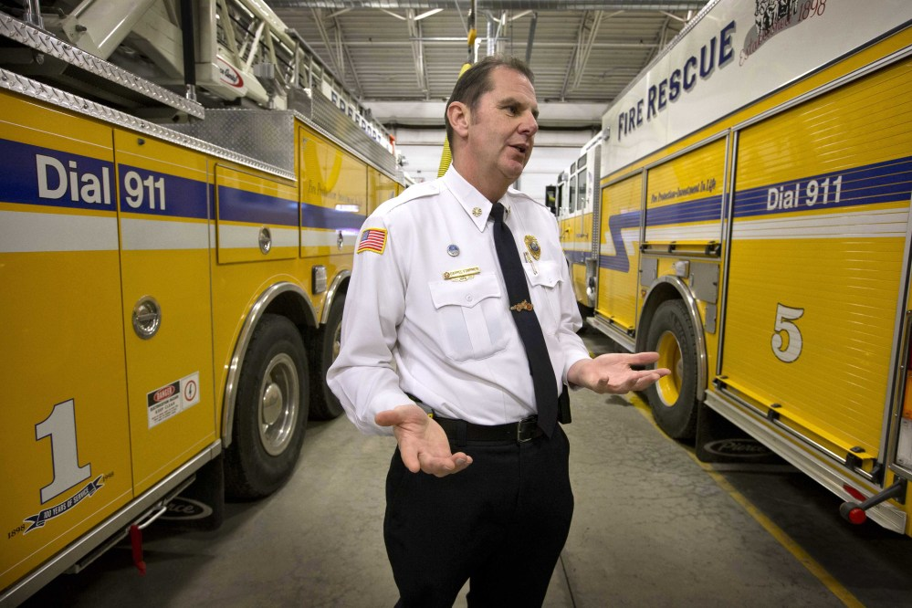 Freeport Fire Chief Darrel Fournier is wary of how the health care law will affect his department's budget and his roughly 50 volunteers.