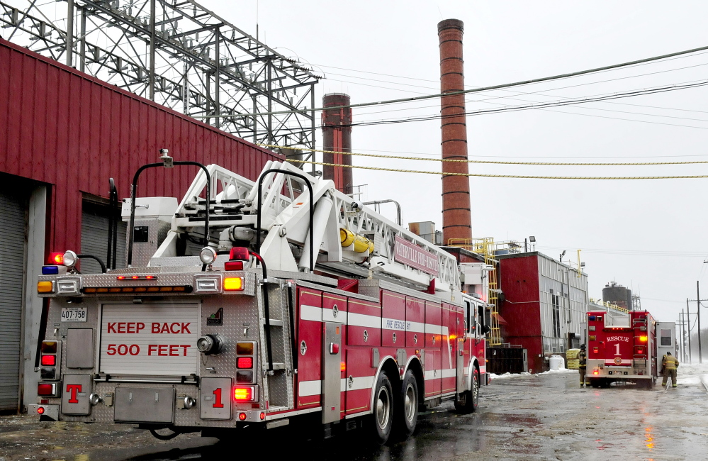 MILL BLAZE: Waterville and Fairfield fire departments extinguished a small fire at the Huhtamaki Inc. molded-fiber mill Monday that started in an electrical cable.