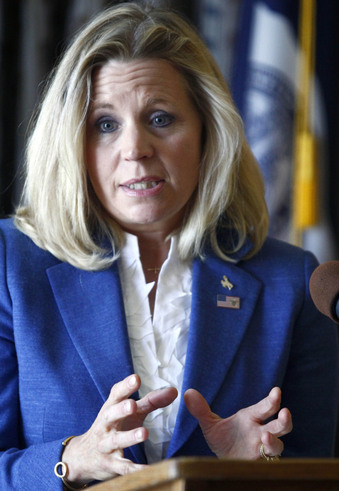 """Liz Cheney cited unspecified """"serious health issues"""" in her family as her reason for dropping out of the Wyoming Senate race Monday."""