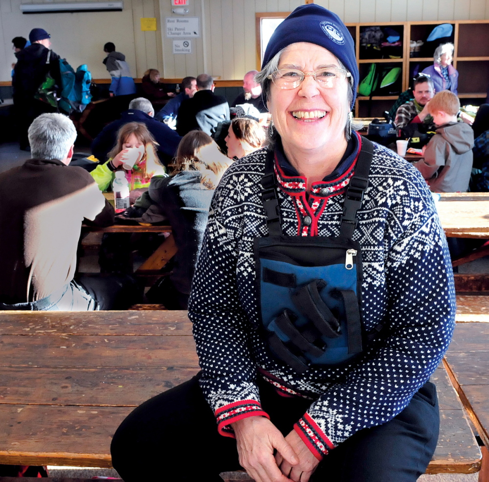 POPULAR MOUNTAIN: Titcomb Mountain Ski Area co-manager Megan Roberts inside the lodge at the popular facility in Farmington. Roberts said the resort remains successful due to strong community support.