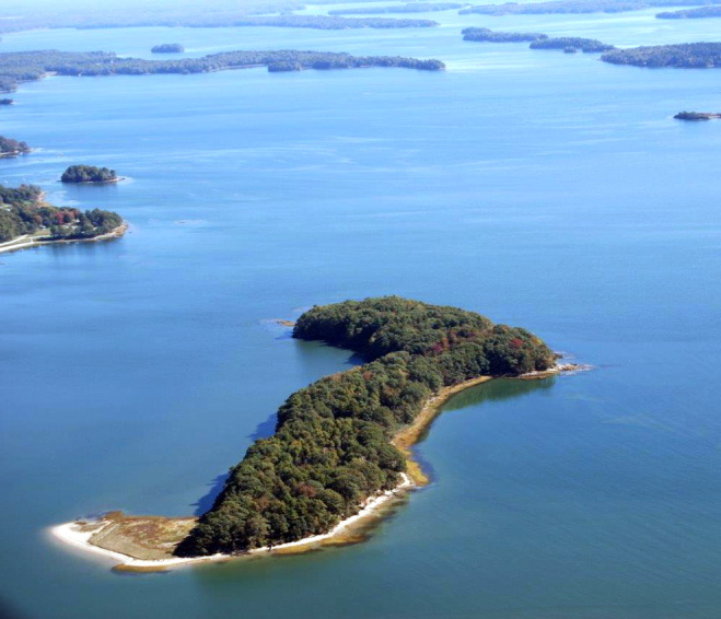The 28-acre Lanes Island off Yarmouth will be conserved by the Maine Coast Heritage Trust, thanks to a gift from the family of Leon Gorman, whose grandfather Leon L. Bean hunted for ducks on the island in the 1930s. The trust will work to balance the preservation of habitat with new opportunities for public recreation.