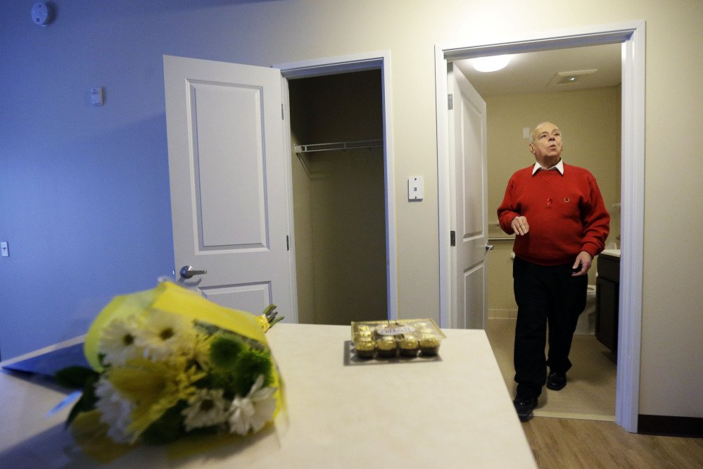 Jerry Zeft, 70, explores his new home in the John C. Anderson apartments, an affordable housing complex aimed at gay seniors in Philadelphia.