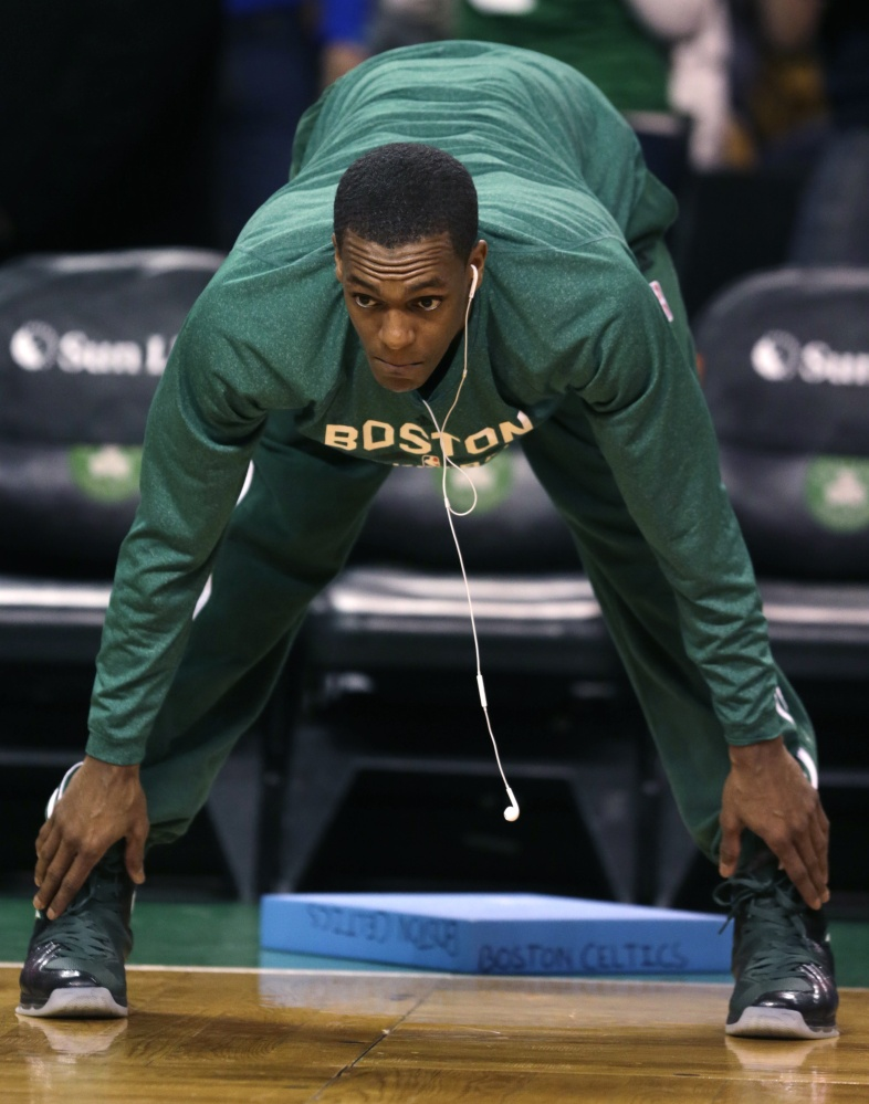 READY TO GO: Boston Celtics guard Rajon Rondo is expect to return to the lineup tonight against the Los Angeles Lakers. Rondo has not played since tearing his ACL on Jan. 25, 2013.