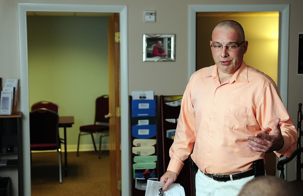 Room for improvement: Darren Ripley talks about the Maine Alliance for Addiction Recovery's new offices on Wednesday during an interview in Augusta.