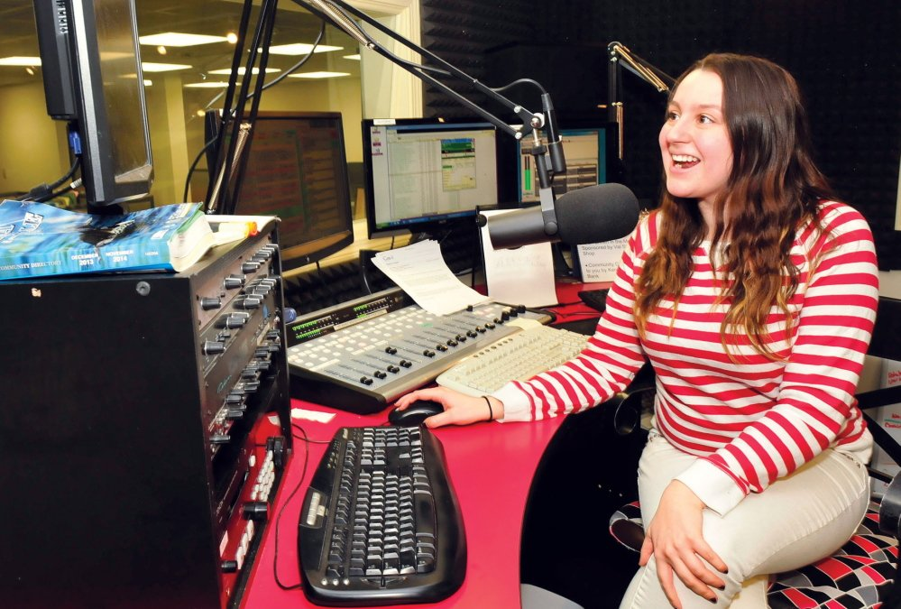 NOW HEAR THIS: University of Maine in Farmington student Hayley Smith-Rose now works at Mountain Wireless radio station True Oldies in Waterville, where she is an executive sales coordinator.