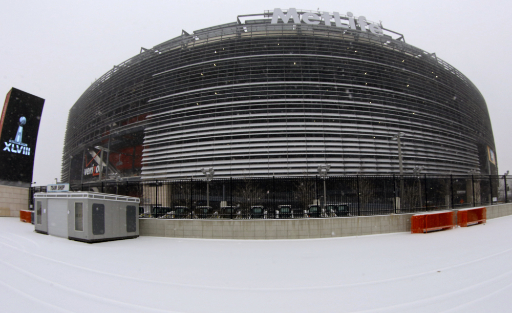 WEATHER A FACTOR: MetLife Stadium in East Rutherford, N.J. will host the Super Bowl on Feb. 2. It could be a snowy, cold day, which could influence the outcome of the game.